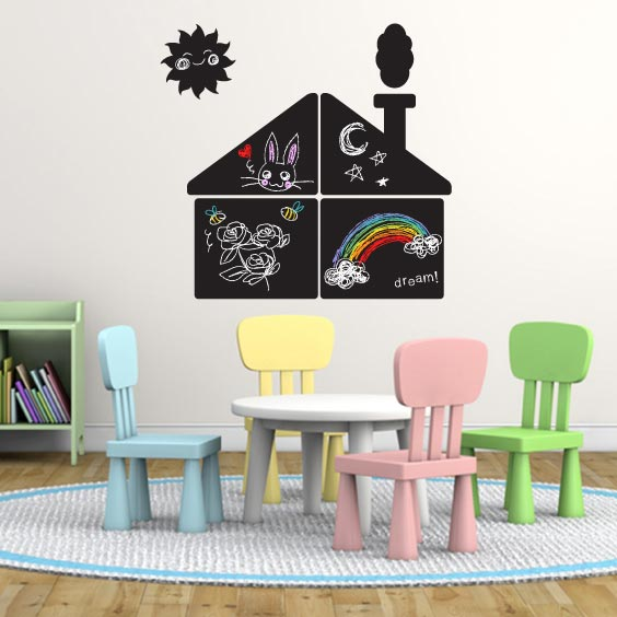 Stikets Chalkboard House Decal