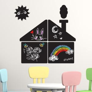 House blackboard wall stickers