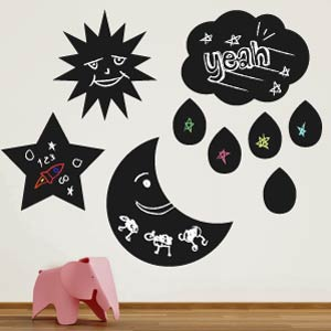 Sky blackboard wall stickers