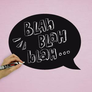 Speech balloon blackboard wall sticker