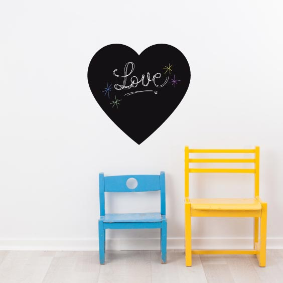 Heart Chalkboard Decal