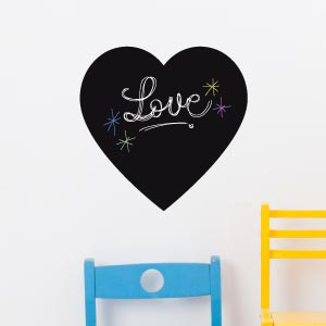 Heart blackboard wall sticker