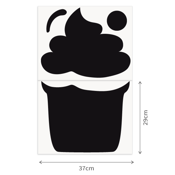 Cupcake Chalk Decal