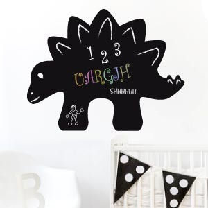 Dinosaur blackboard wall sticker