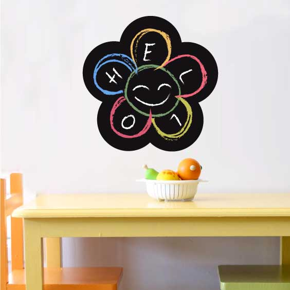 Flower Chalkboard Decal