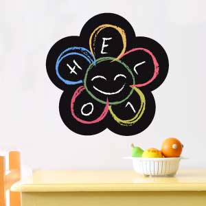 Flower blackboard wall sticker