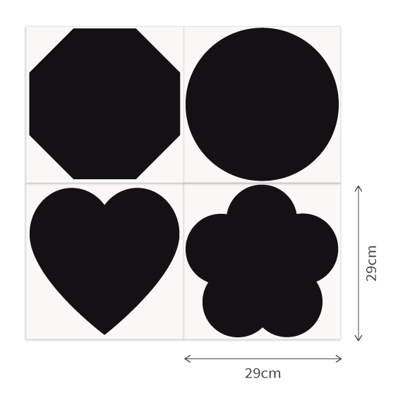 Chalkboard Decal Shapes