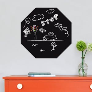 Hexagon blackboard wall sticker
