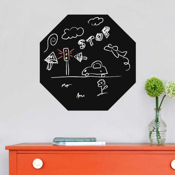 Hexagon Chalkboard Decal