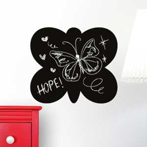 Butterfly blackboard wall sticker