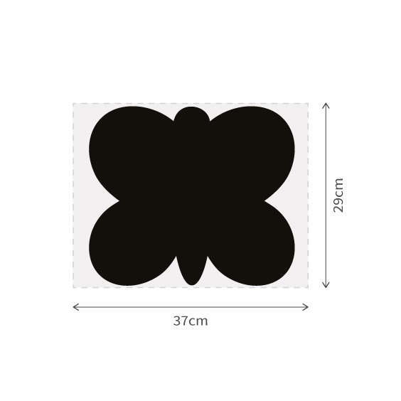 Butterfly chalkboard vinyl with marker