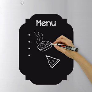 Vintage menu blackboard wall sticker
