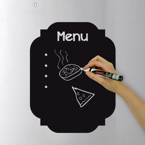 Menu Chalk Decal  2