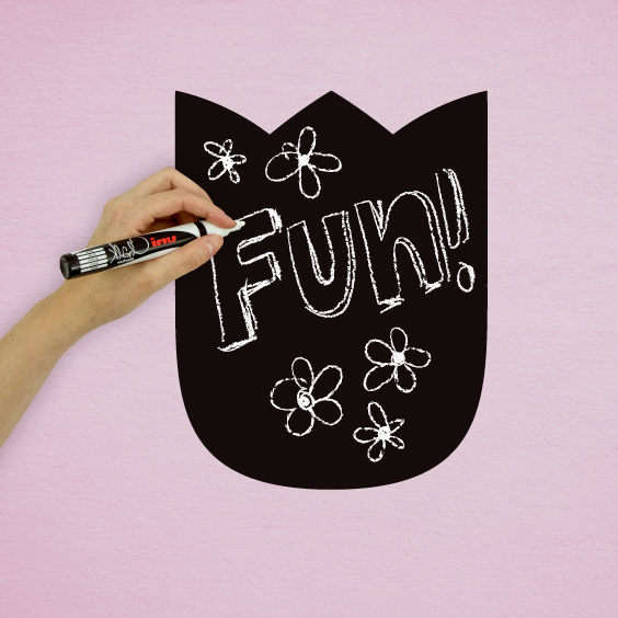 Tulip Chalkboard Decal