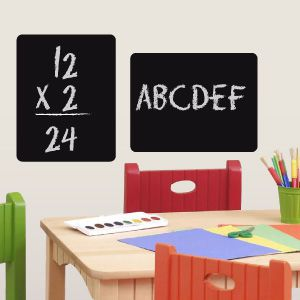 2 Rectangle blackboard wall stickers