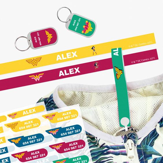 Pack etiquetes de Wonder Woman