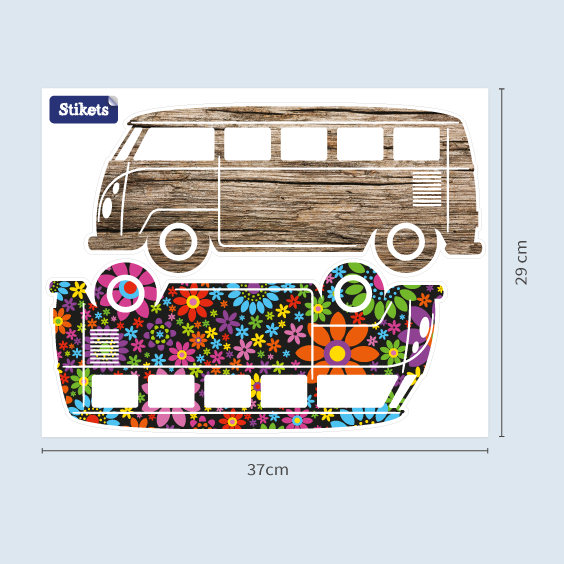 Stickers Voiture VW combi Westfalia 1