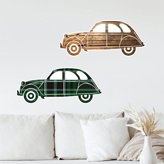Stickers voitures 2CV 1