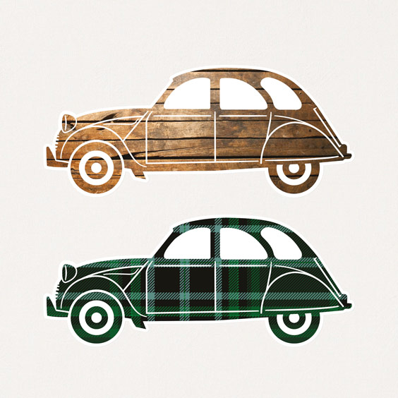 Vinilo coches 2CV 1
