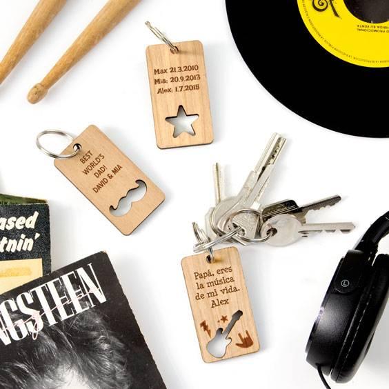 Porte-clés en bois personnalisé