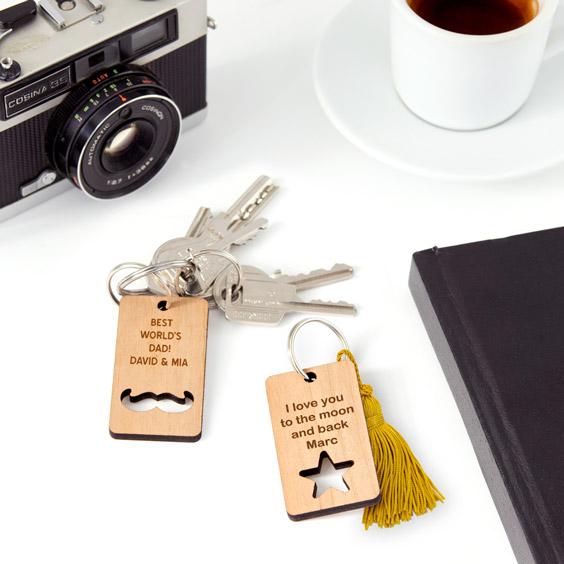 Custom Wooden Key Rings