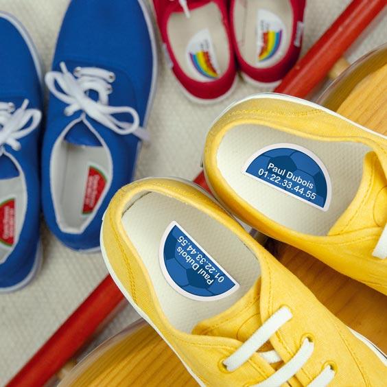 Etiquettes chaussures droite/gauche