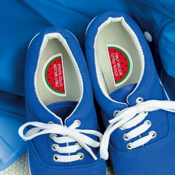 Shoe labels left / right