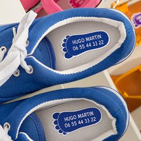 Etiquettes chaussures