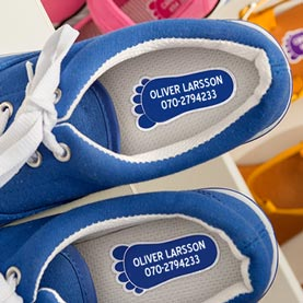 Namnetiketter till skor