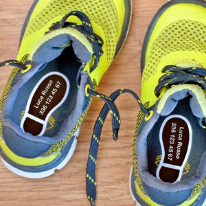 Etichette per scarpe Orme